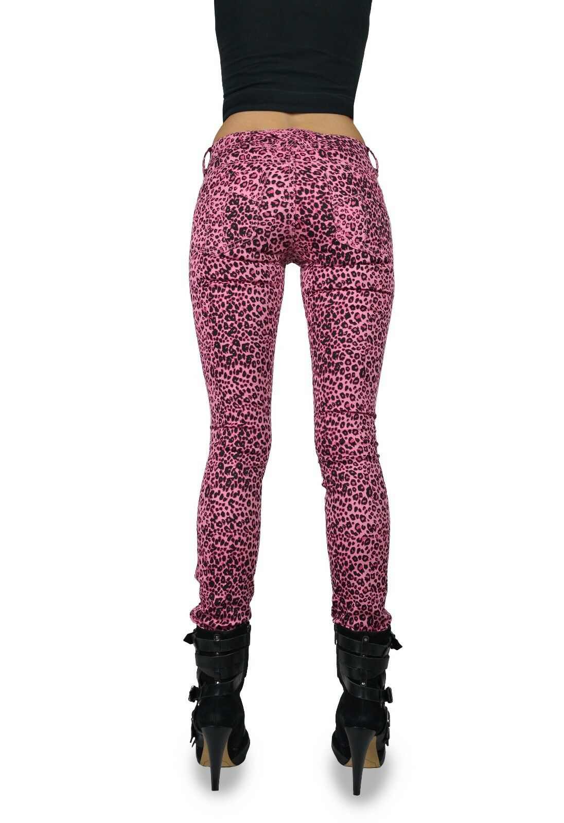 TRIPP EMO GOTH ROCKER PINK CHEETAH CYBER PUNK JEAN PANTS HIPPIE SKINNY IS6235P Clothing, Shoes & Accessories