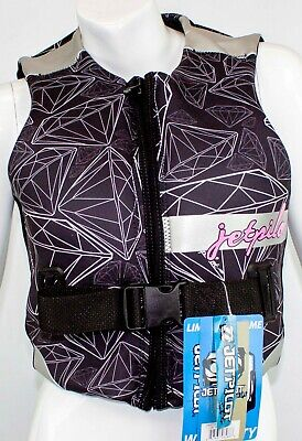 $125 Womens Jet Pilot by Body Glove LUXE Life Vest Water Ski Jacket Ladies Black