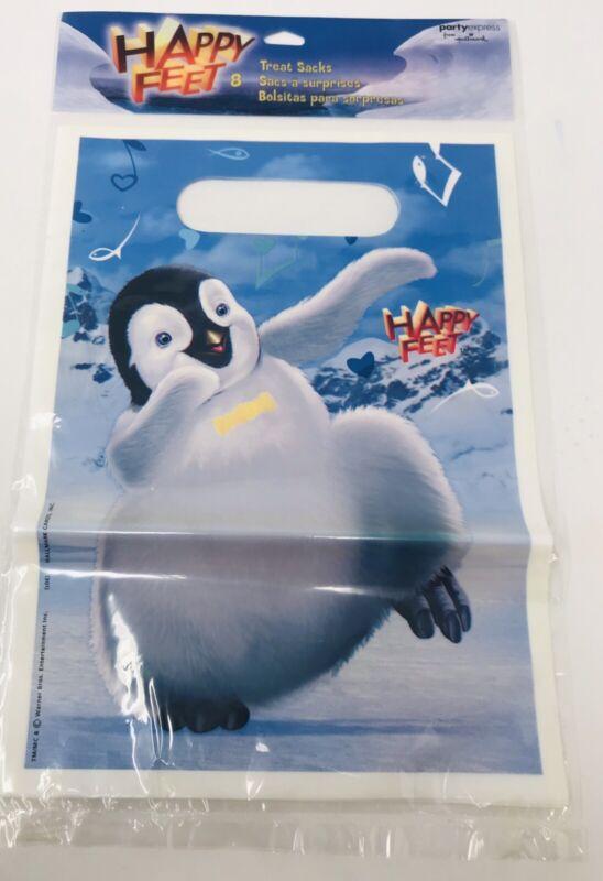 8 DISNEY Happy Feet Treat Bags Loot Bags Goody Sacks Hallmark Party Express NIP
