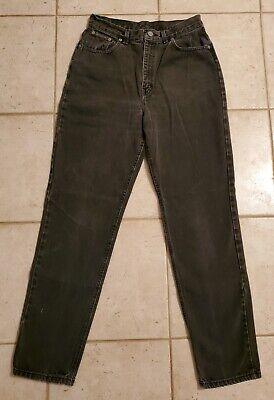 Vintage CK Calvin Klein Jeans Classic 5 Pocket In Black High Rise Mom Size 12