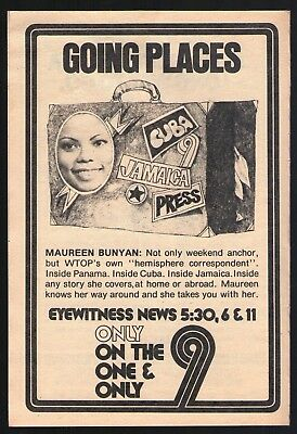 1977 Wtop Tv News Ad Maureen Bunyan Going Places Washington D C  Anchor