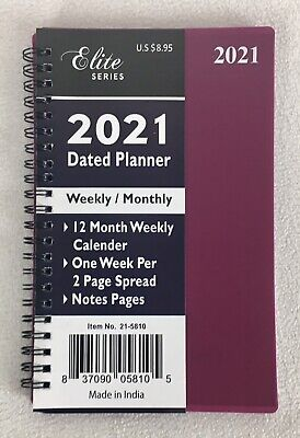 2021 Weekly Monthly Spiral Planner Calendar Organizer Appointment Book 8 X 5