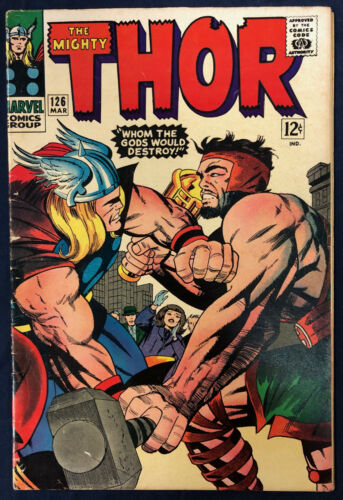 THOR #126 : FIRST SILVER AGE : MAR 1966 : HERCULES, MARVEL COMICS : CCX