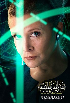Star Wars Episode Vii The Force Awakens Carrie Fisher Poster Princess Leia