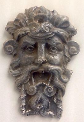 Antique Finished Greek Roman God Face Mask Wall Decor Zeus