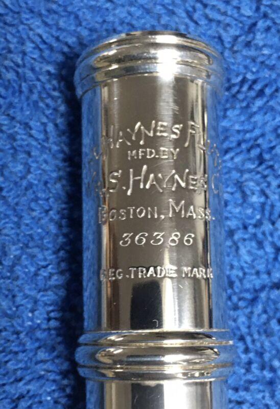 Wm. S. Haynes Handmade Silver Flute Overhauled