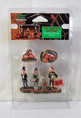 Lemax Halloween Spooky Town Set of 4 The Costume Contest #02386 MIP LN - Halloween Costumes Of 2000