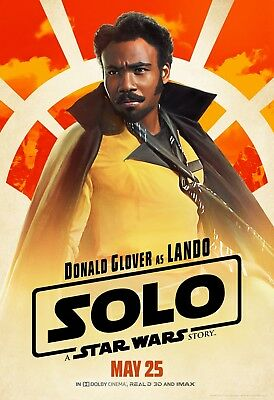 Solo A Star Wars Story Movie Poster  - Donald Glover, Lando