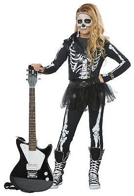 California Costumes Skeleton Rocker Girls Child Halloween Costume Cosplay 00635