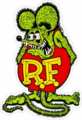 "Rat Fink 20"" x 30"" Plasma Cut, Big Daddy Ed Roth Metal Sign"