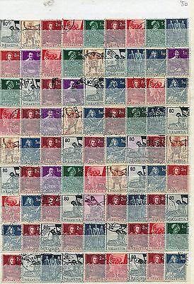 Lot Schweiz - Historische Darstellungen o - undurchsucht  ( 33625 )