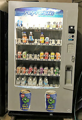 Vendo Vue 40 Glass Front Soda Beverage Vending Machine W Robotic Arm