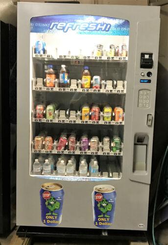 Vendo Vue 40 Glass Front Soda Beverage Vending Machine w/ Robotic Arm