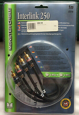 Monster Cable Interlink 250 1m/3.3ft RCA Connection Balanced Audio Interconnect