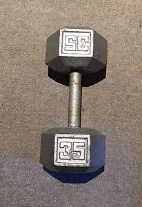 dumbbells 1x35lbs