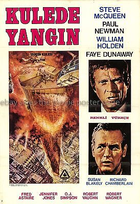 The Towering Inferno 1974 Steve McQueen Turkish movie poster