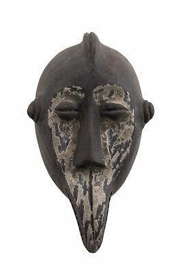 Masquette Votive Terracotta Bird Ethnic Mask Fetish Art African 881