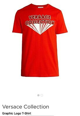 NWT MENS VERSACE COLLECTION T-SHIRT SZ XXL RED  🔥🔥
