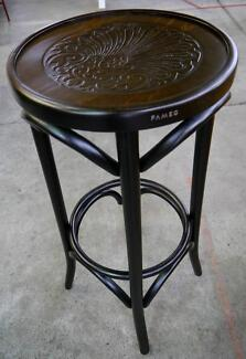 New Authentic Bentwood Classic Round Timber Embossed Bar Stools