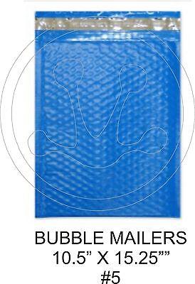 10 Large Bluecolored Decorative Bubble Mailers 10.5 X 15 Size 5