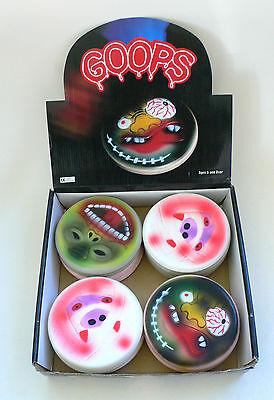 Vintage GOOPS Madballs Monster Mini Frisbee Full display box 48 pcs 1980's MIB