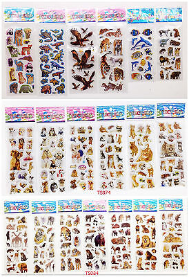 18pcs Bubble stickers kids favor Scrapbooking & Paper Crafts animals mixed gift