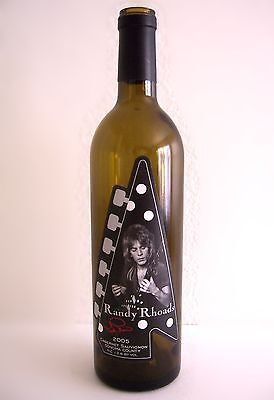 RANDY RHOADS 2005 LIMITED RELEASE CABERNET EMPTY WINE BOTTLE COLLECTIBLE - RARE