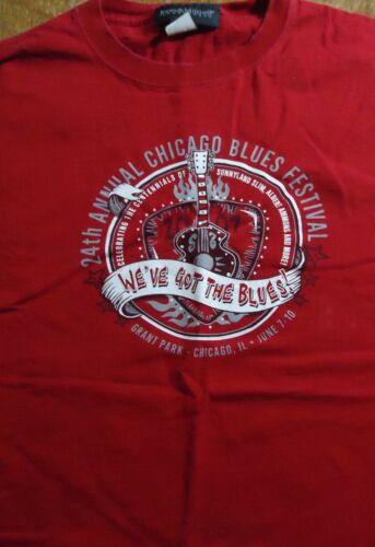 2007 Chicago Blues Festival T Shirt (Medium) 24th Annual