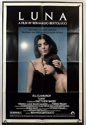 LUNA Movie Poster (VeryFine+) One Sheet 1979 Jill Clayburgh Matthew Barry 1578