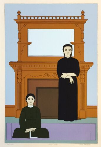 "Will Barnet  ""reflection"" 1971 