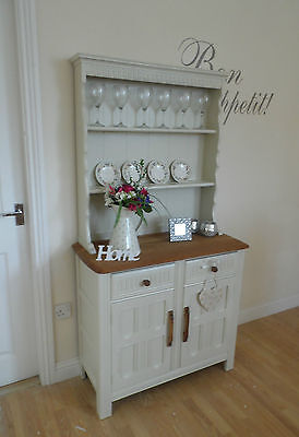 STUNNING SHABBY CHIC SOLID OAK PRIORY WELSH DRESSER - FARROW & BALL PAINT