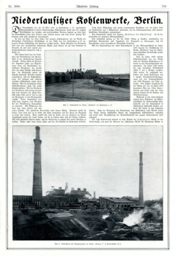 Niederlausitz coal works Berlin XXL 1919 German ad Senftenberg Deutzen Germany