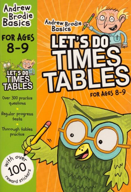 Let's Do Times Tables 8-9 by Andrew Brodie BRAND NEW BOOK (Paperback, 2015)