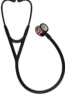 3m Littmann Cardiology Iv Stethoscope Black With Rainbow Chest Piece In Box