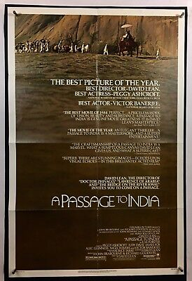 PASSAGE TO INDIA Movie Poster (Fine)  One Sheet 1984 Victor Banerjee 1150