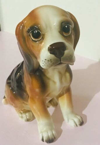 Vintage Lefton Beagle figurine 8""