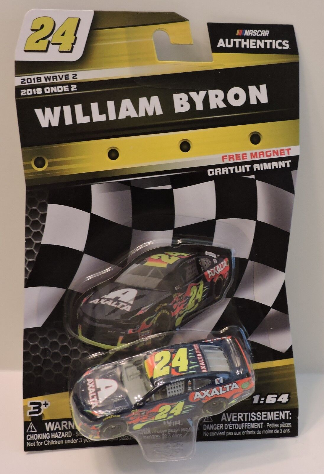 2018 WILLIAM BYRON #24 AXALTA NASCAR AUTHENTICS 1:64 W/#24 A