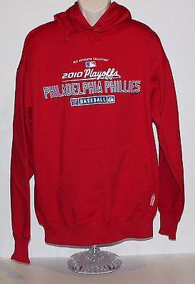 Mlb Philadelphia Phillies 2010 Playoffs Majestic Mens Large Red Hoodie