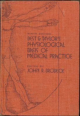 Physiological Basis of Medical Practice, Best &Taylor's 9th edition for sale  Shipping to South Africa