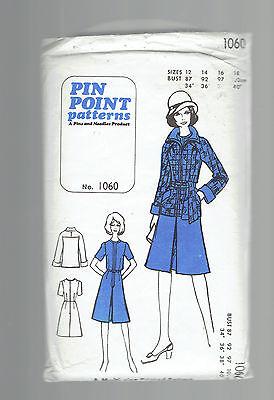 PIN POINT pattern dress jacket suit business Sz 12 14 16 18 uncut VINTAGE unused