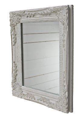 Espejo de Pared Blanco Antiguo Maquillaje Barroco Casa Campo Baño Marco