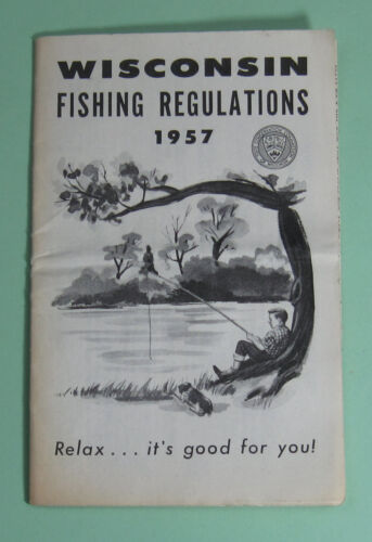 1957 Wisconsin Conservation Fishing License Regulation Booklet...Free Shipping!