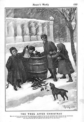The Week after Christmas  -  Poor Children picking Toys from Trash Barrels   ()
