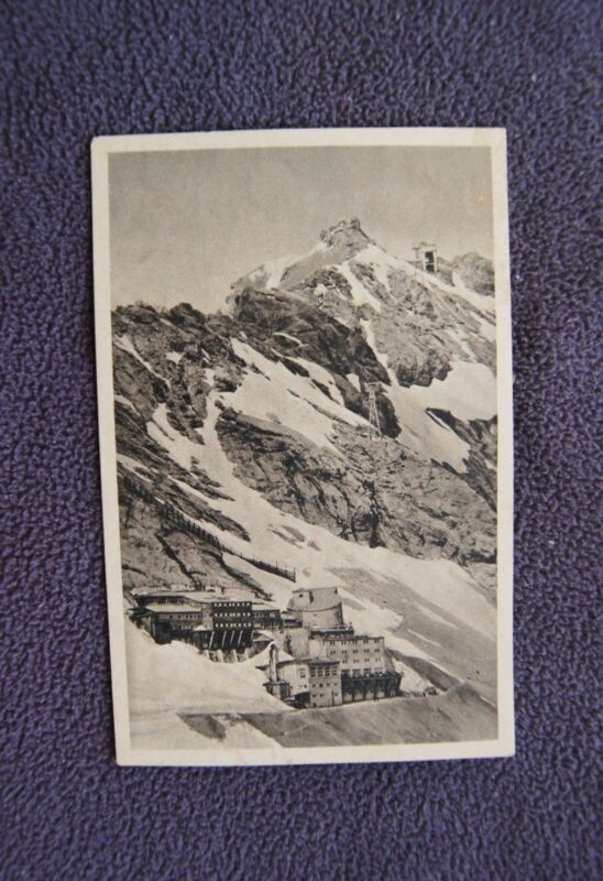 Zugspitzhotel 3rd Army Tours Germany WWII Photograph Zugspitze Mt Vintage PC