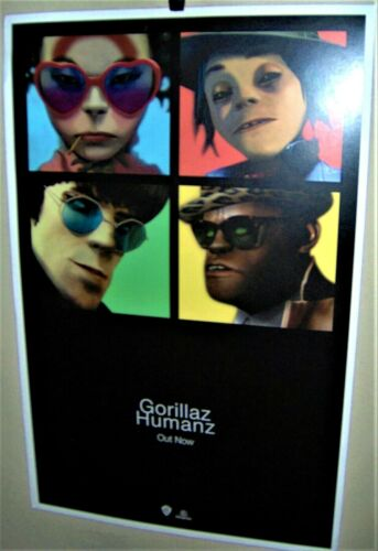 GORILLAZ  HUMANZ Full Color Poster Very COOL
