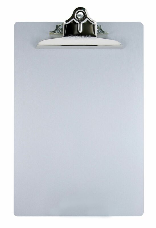 Saunders 22517 Recycled Aluminum Clipboard - Silver, Letter Size, 8.5 in. x 1...