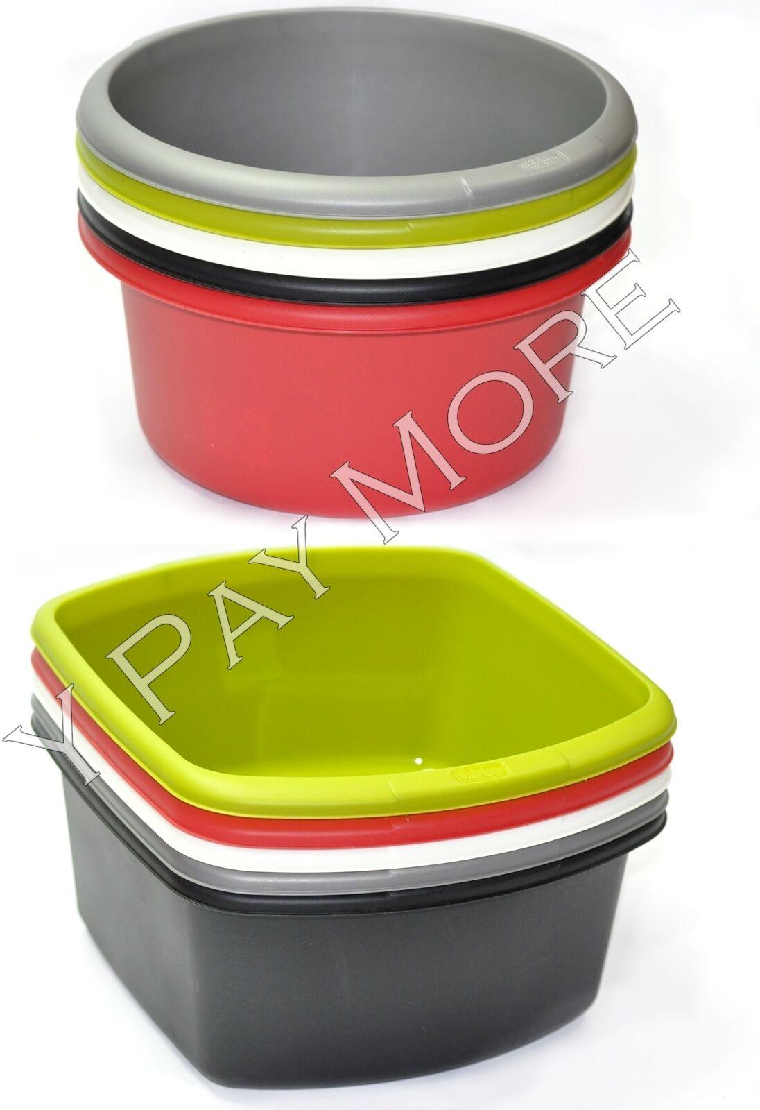 plastic circular rectangular baking mixing salad washing. Black Bedroom Furniture Sets. Home Design Ideas