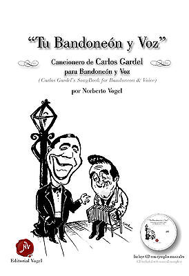 Photo bandoneon method for accompanying TANGO  (Carlos Gardel) DELUXE (with cd rom)