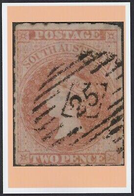 1858 SA South Australia QV 2d Sideface -> A6 POSTCARD Size Photo Card PRINT COPY