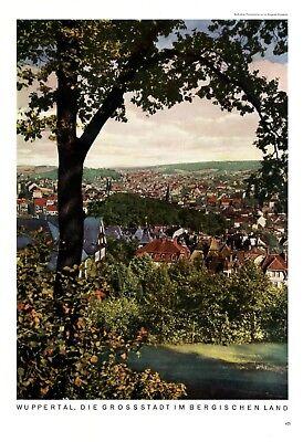 Wuppertal im Bergischen Land XL 1938 Fotoabbildung von A. Wagener Wuppertal +